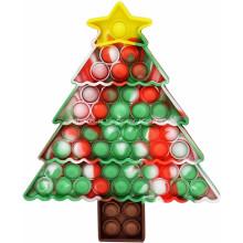 Brinquedos de mesa para árvores de Natal de silicone, pioneiros em rodenticidas