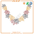 Leaves neckline iron on rhinestone designs