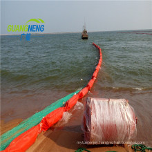 Pollution Control Containment Inflatable Rubber Oil Boom/PVC Oil Boom
