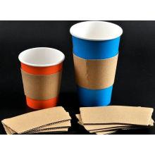 Manga de cor marrom para copo de café quente resistente ao calor