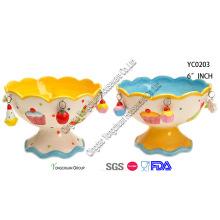 Bandeja de doces de cerâmica / bandeja de bolo
