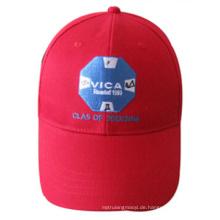 Kundenspezifische Ballkappen-Art-grundlegende gestickte rote Kappe