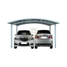 Double garage de voiture en aluminium de toit en polycarbonate pour deux voitures