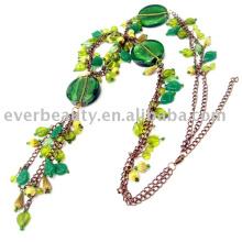handmade Caryl plastic bead alloy pendant necklace