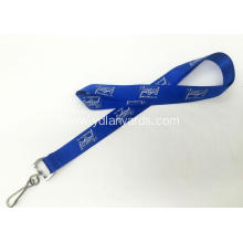 Custom Flat Polyester Lanyard Silk Screen Printing
