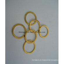 Anillo magnético permanente de neodimio con chapado en oro
