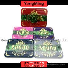 Conjunto de fichas de poker acrílico (760PCS) YM-FOCP001