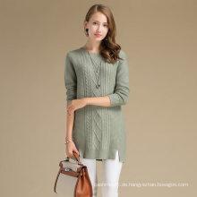 Stay Warm Women Winter Kaschmir Wolle Stoff Pullover mit Raute Muster