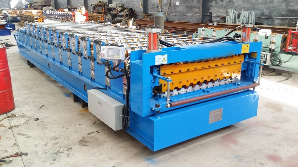 trapezoidal ibr double sheet forming machine
