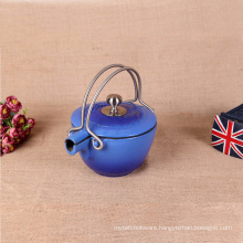 Cast Iron Enamel Round Kettle,Blue