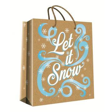 CHRISTMAS SERIES KRAFT GIFTBAG30-0