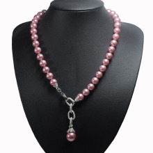 Pearl Pearl Pendant Fake Pink Pearl Necklace