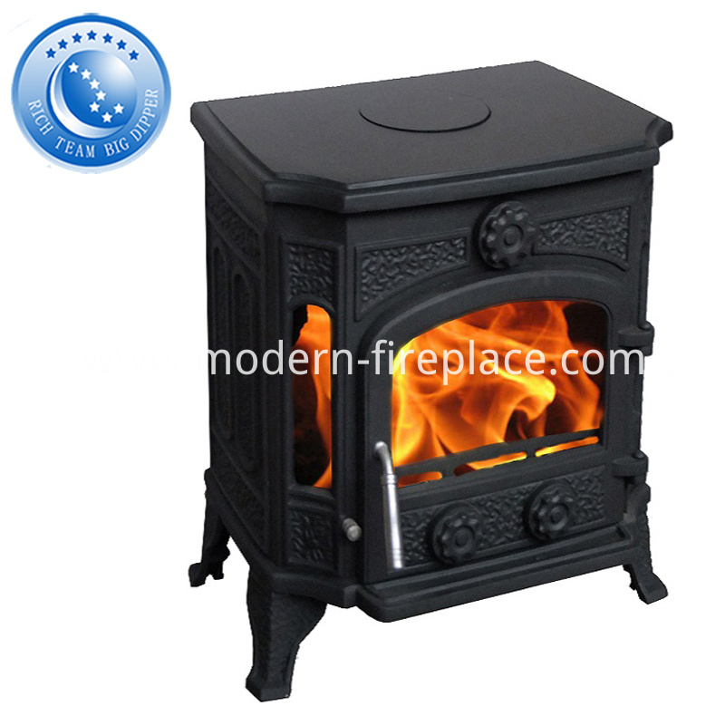 Antique Backyard Wood Burning Fireplaces With Stainless Steel Chimney Liner
