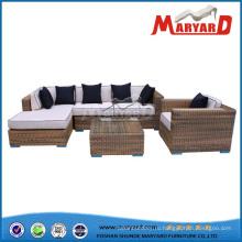 PE ротанга сад диван мебель