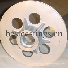 Poulie de guidage en aluminium avec haute dureté en céramique revêtue