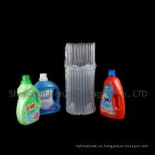 Bolsas protectoras de columna de aire para envases de polvo