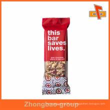 Desechables Foil personalizada impresa barra de chocolate de embalaje bolsa con precio de fábrica