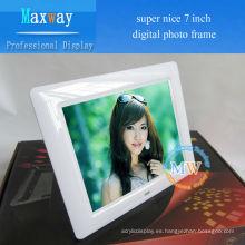 video, imagen, música, MP3 MP4 multifunción LCD marco digital 7 pulgadas