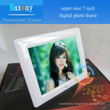 video, picture, music, MP3 MP4 multifunction LCD digital picture frame 7inch