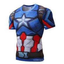 Custom All Over Tee Shirt Sublimation Short Sleeve Breathable T-Shirt