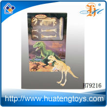 2013 Best selling assembly plastic dinosaur skeleton replicas for sale