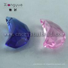 20mm Farben Moon Shape konfrontiert Kristall-Perlen