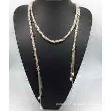Collier de perle de chaîne colorée de gloire (xjw13766)