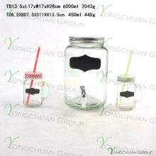 Frascos de Mason com tampas e alças Frascos de Jar Vintage
