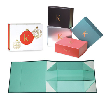Flat Luxury Folding Paper Gift Gift Box
