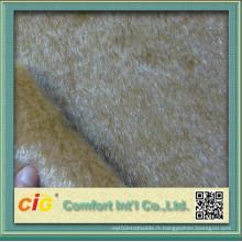 Tissu de fourrure fausse pour siège de voiture / vêtement