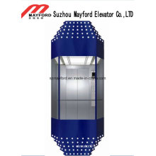 Машинного помещения, панорамный Лифт с обожженной эмали сталь