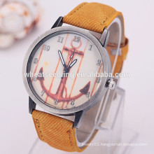 Fabric watch band style anchor watch