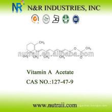 CAS # 127-47-9 Acetato de Vitamina A 2,600,000IU / G Grado de alimentación