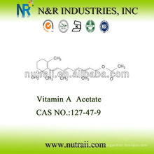 CAS # 127-47-9 Acétate de vitamine A 2,600,000IU / G Niveau d'alimentation