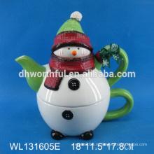 Высококачественный керамический чайник с дизайном снеговика