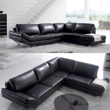 Genuine Leather L-Shape Couches Corner Sectional Sofa
