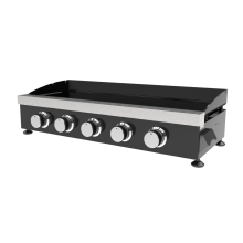 Five Burner Cold-Rolled Steel Gas Plancha