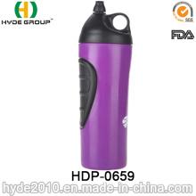 2017 beliebte BPA FREI Kunststoff Lauf Sportflasche, PE Kunststoff Sport Trinkflaschen (HDP-0688)