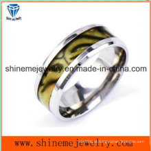 Shineme Jóias Anéis Moda Cor Shell Anel de aço inoxidável (SSR2791)