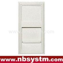 Face Plate 1 porta, tipo francês, tamanho: 45x22.5mm