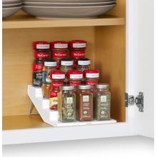 White SpiceSteps 4-Tier Cabinet Spice Rack Organizer