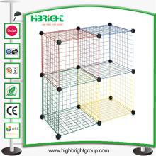Cubos de arame de empilhamento Definir escaninhos de organizador de armário