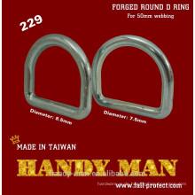 229-75 Verzinkter geschmiedeter Stahl Rund D Ring