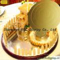 Plateau rond de gâteau de papier ondulé de 6 pouces / panneaux de gâteau / FDA pour des gâteaux d'anniversaire (B & C-K052)