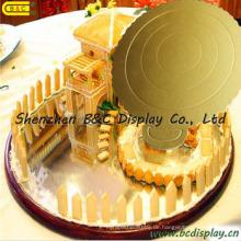 6 Zoll-runde Wellpappe-Kuchen-Behälter- / Kuchen-Bretter / FDA für Geburtstags-Kuchen (B & C-K052)