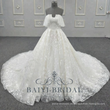 New Lace Pattern Wedding Dress Rock unter trägerlosen Bling Brautkleid 2018 Kollektionen