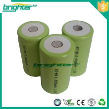 Bateria recarregável nimh de alta capacidade 1.2v para luz de tocha de lanterna led