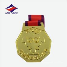 Gold überzogene laufende Metallsportmedaille für Verkauf