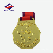 Gold plated running metal sports medal for sale