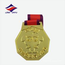 Позолоченные управлением металлические спортивные медали для продажи